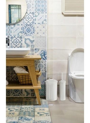 The Mia Çöp Kovası & Tuvalet Fırçası Seti Beyaz